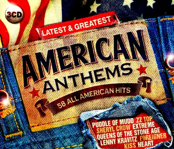 American Anthems ~ 58 ALL AMERICAN GREATEST  HITS  (3 CD BOX SET 2014) NEW N SEALED